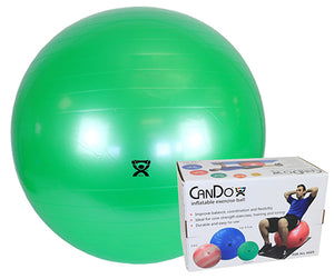 "Inflatable Exercise Ball - Green - 26"" (65 cm), Retail Box"