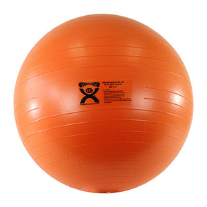 "Inflatable Exercise Ball - ABS Extra Thick - Orange - 22"" (55 cm)"