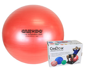 "Inflatable Exercise Ball - Super Thick - Red - 30"" (75 cm), Retail Box"