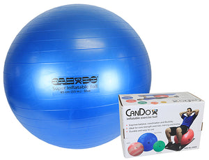 "Inflatable Exercise Ball - Super Thick - Blue - 34"" (85 cm), Retail Box"