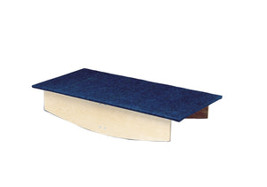 Rocker Board - Wooden with carpet - front-to-back - 30x60x12 inch