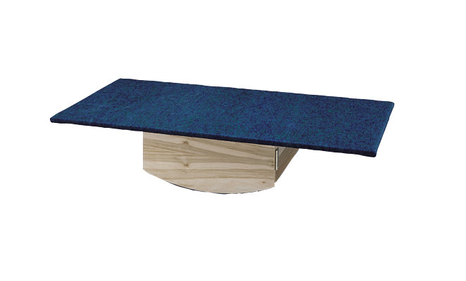Rocker Board - Wooden with carpet - side-to-side, front-to-back combo - 30x60x12 inch