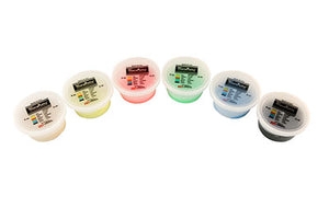 Exercise putty SET (6 pieces), 2 ounce - 1 of each