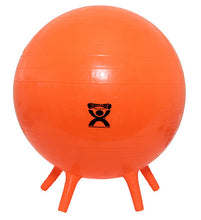 "Load image into Gallery viewer, Inflatable Exercise Ball 55 cm (21.7"") feet, orange"