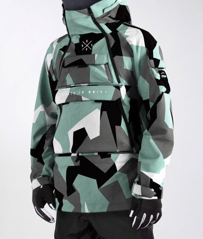 Akin Jacket Faded Green Camo