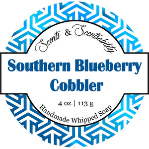 Southern Blueberry Cobbler Whipped Soap