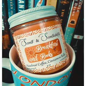 Breakfast and Books Candle
