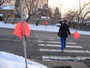 Man Attacked with Crosswalk Flags in Canada