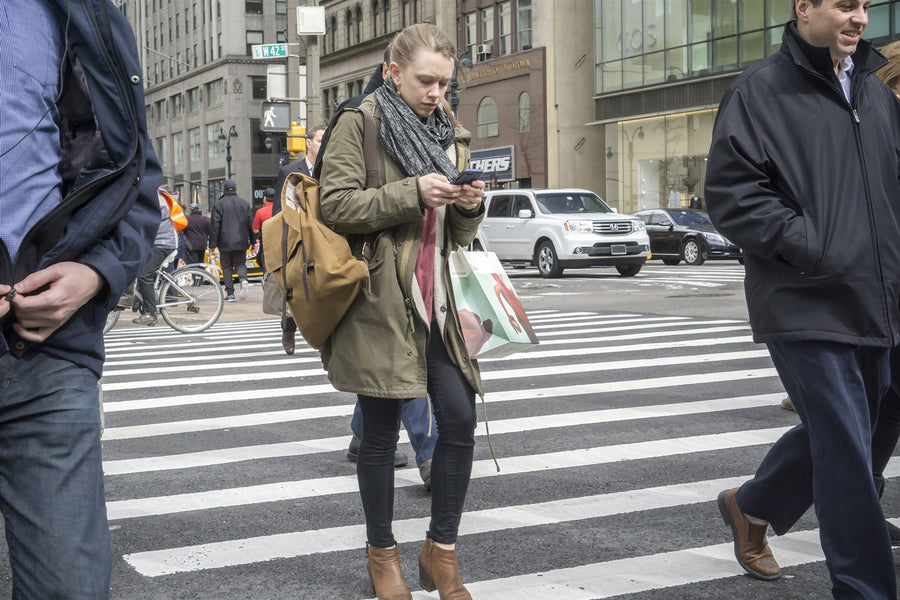 Texting and Walking in New York City Crosswalks