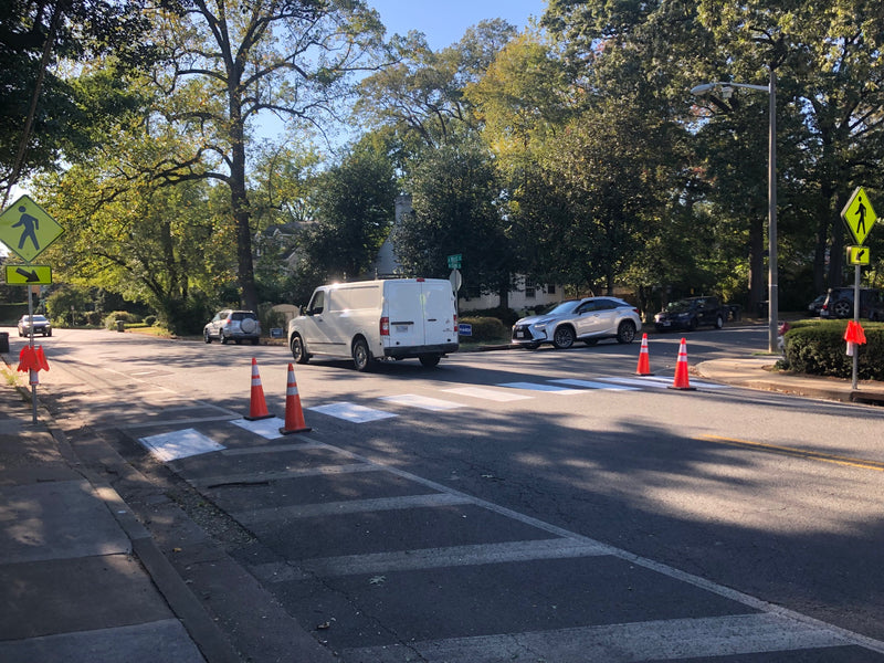 New Crosswalk Flags Installed in Falls Church, VA at Dangerous Crosswalk