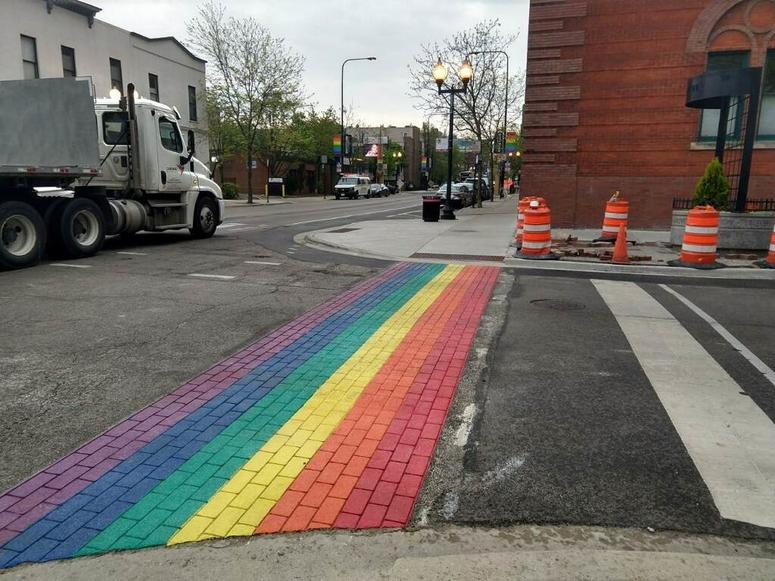 Rainbow Crosswalks in Chicago Making their Appearance