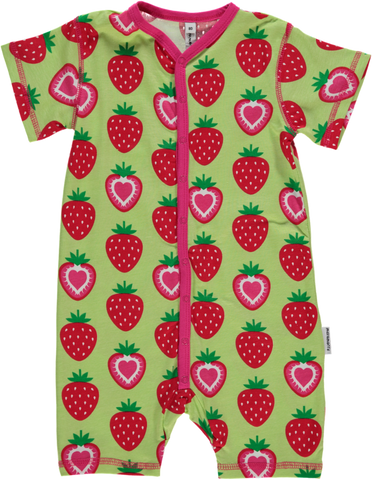 Maxomorra - Strawberry Shortie Rompersuit