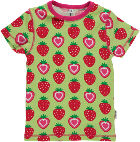 Maxomorra - Strawberry Short Sleeved Top