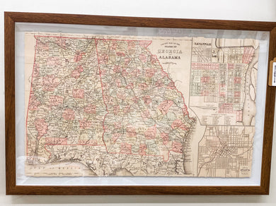 Georgia/Alabama Framed Map
