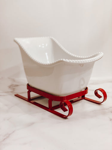 Sleigh Serving Dish