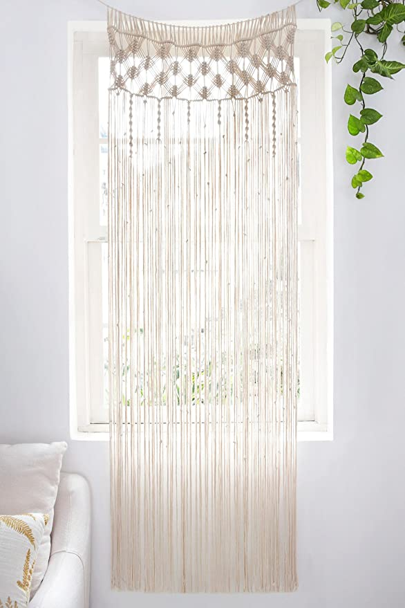 Macramé Curtain Panel