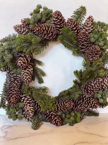 Douglas Fir Faux Wreath