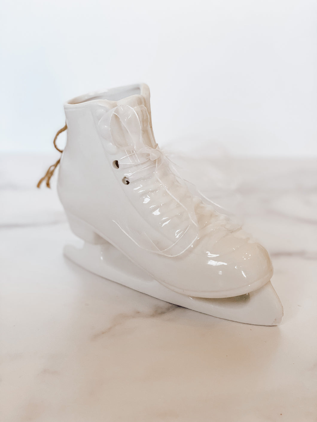 Ceramic Ice Skate Decor