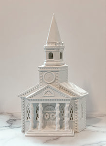 RARE - Vintage Dept. 56 Lighted Porcelain Cathedral Church