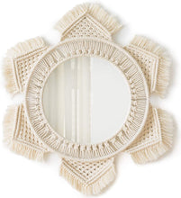 Load image into Gallery viewer, Macramé Wall Mirror