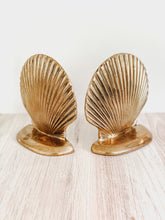Load image into Gallery viewer, Vintage Solid Brass Clamshell Bookends (Set)