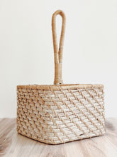 Load image into Gallery viewer, Whitewashed Wicker Utensil Carrier