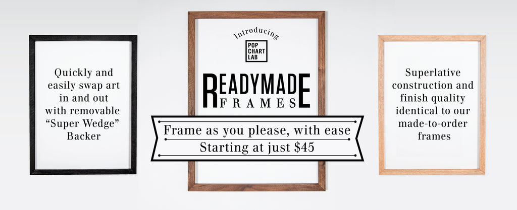 Pop Chart Lab | Design + Data = Delight | Readymade Frames