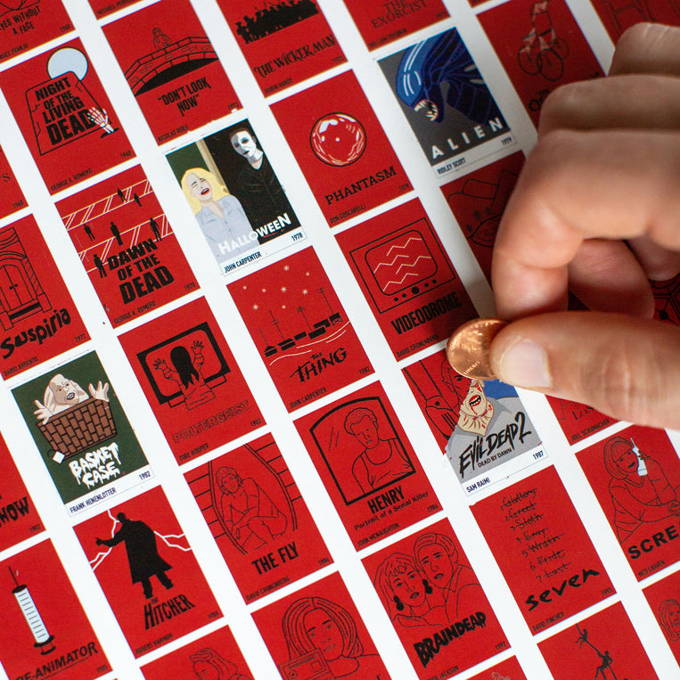 100 Horror Movies Scratch-Off Chart