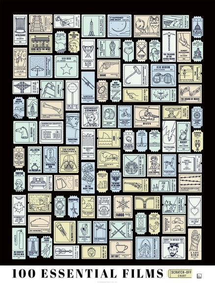 100 Essential Films Scratch-off Chart