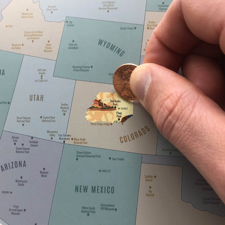US Landmarks & Monuments Scratch-Off Map