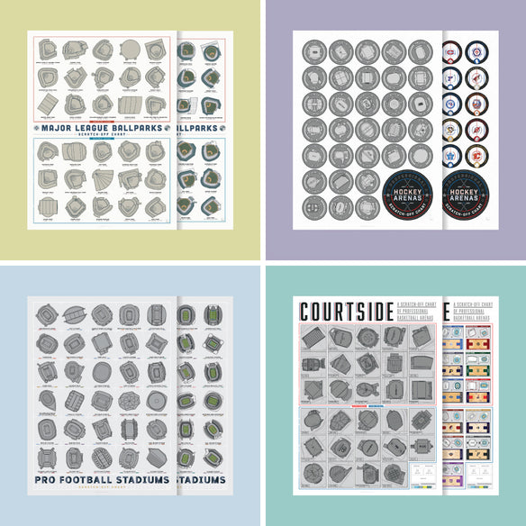Stadiums Scratch-Off Set