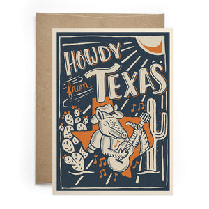 Armadillo Texas Card