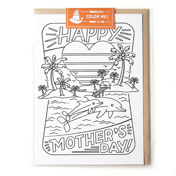 Mother's Day Color Me Card