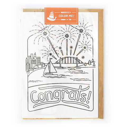 Congrats Color Me Card