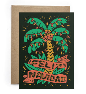Feliz Navidad Holiday Greeting Card