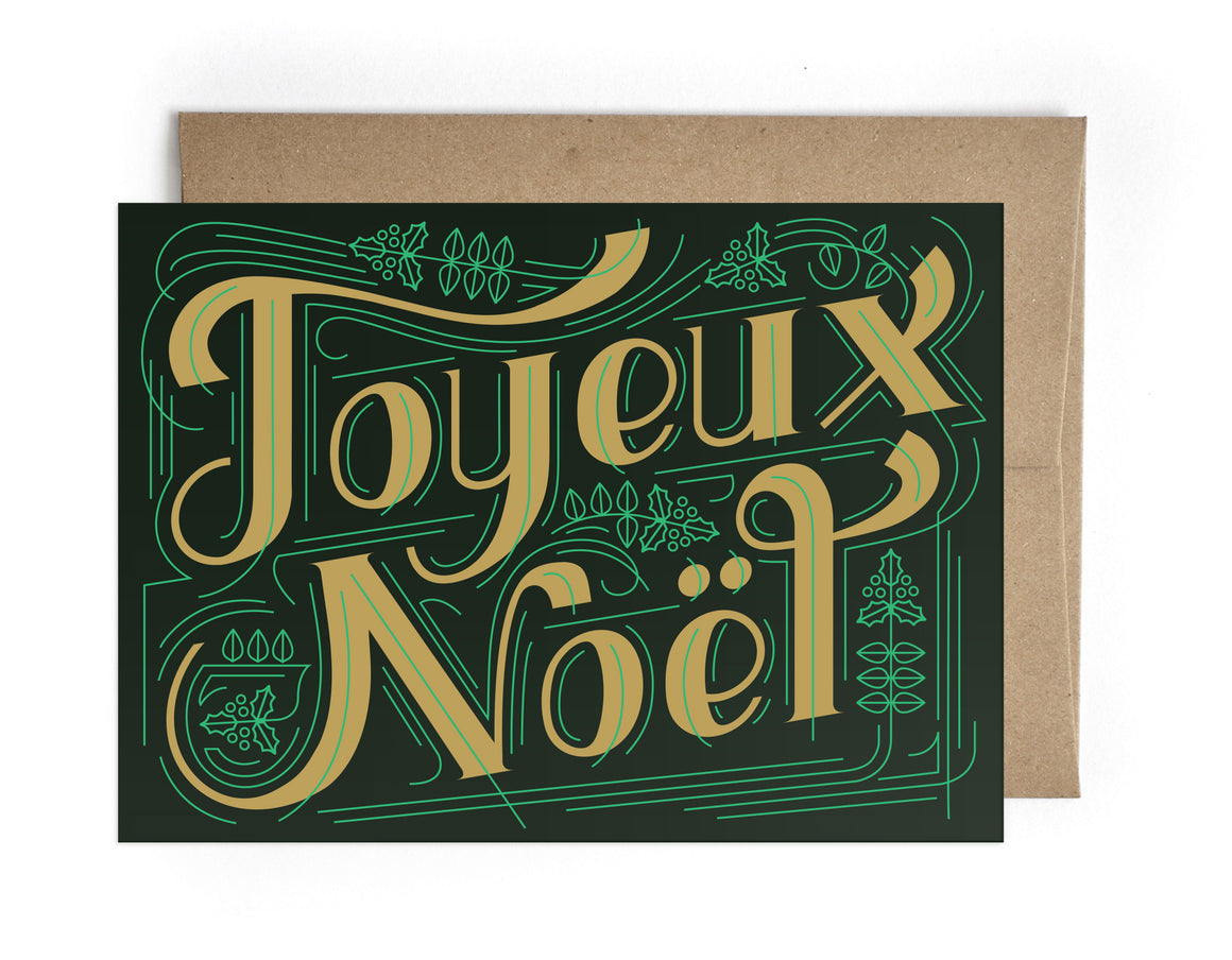 Joyeux Noel Holiday Greeting Card