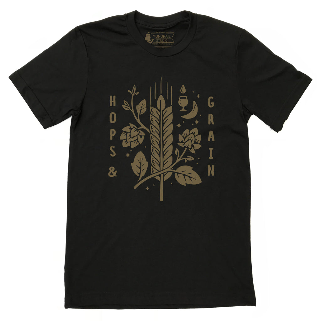 Hops & Grain Black Tee