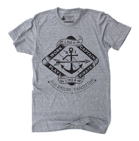 Play like a Pirate - Unisex Athletic Grey Tri-Blend T-Shirt