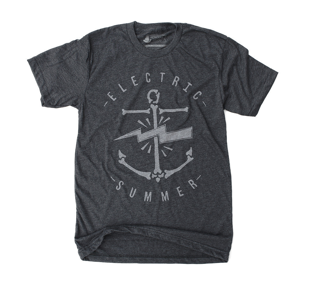Electric Summer Heather Black Tee