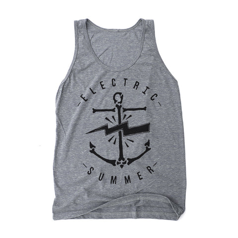 Electric Summer - Unisex Athletic Grey Tank Top