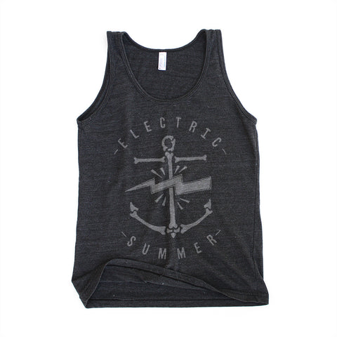 Electric Summer - Unisex Tri-Blend Black Tank Top