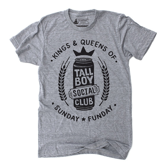 Sunday Funday Tallboy Mens Unisex Athletic Grey T-Shirt