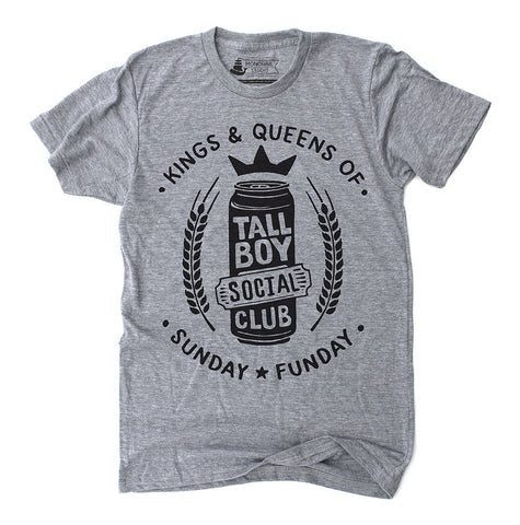 Sunday Funday - Tallboy Social Club - Athletic Grey Unisex T-Shirt