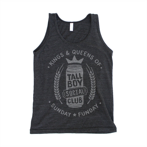 Sunday Funday - Tallboy Social Club - Unisex Tri-Blend Black Tank Top
