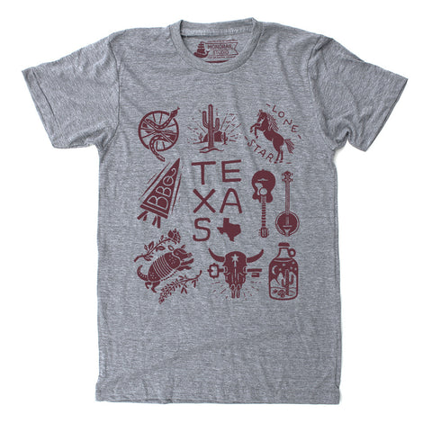 Texas - Athletic Grey Unisex T-Shirt