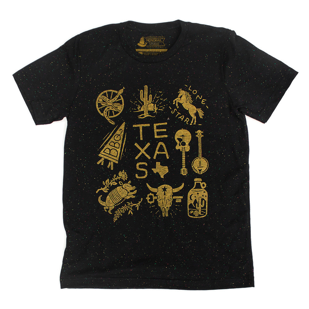 Texas Speckled Black Tee