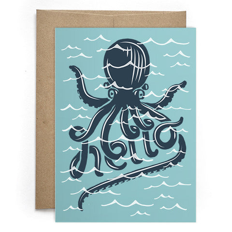Octopus Hello Card
