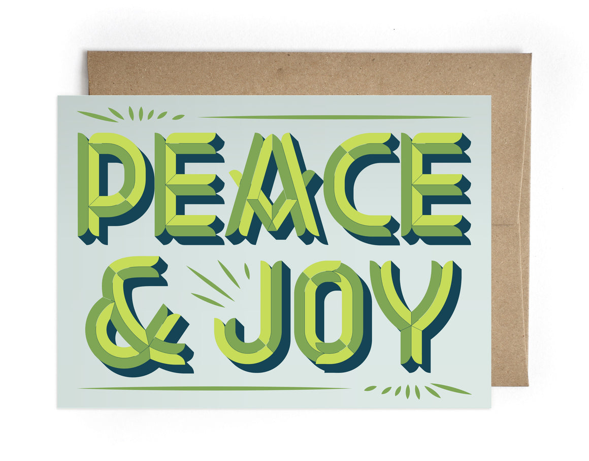 Peace & Joy Holiday Greeting Card