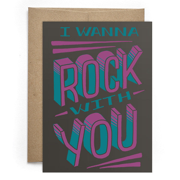 Rock With You Card