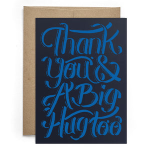 Thank You & A Big Hug Too Card